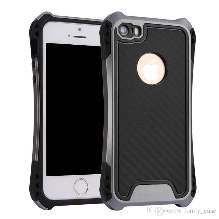 Caseology Case For iphone 6 plus 5G SE Hybrid Armor Cover For Samsung Galaxy G530 Rubber Shockproof Combo Carbon Fiber Case Back Cover