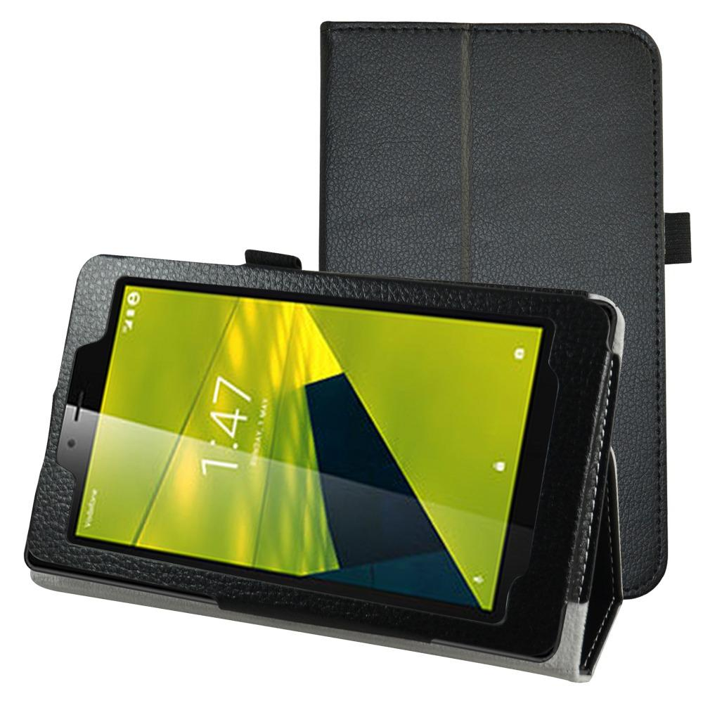"Wholesale-Case For Alcatel pixi 4 7 Tablet,Folio Stand New Custer PU Leather Smart Cover Case For 7"" Vodafone Smart Tab Mini 7 Tablet"