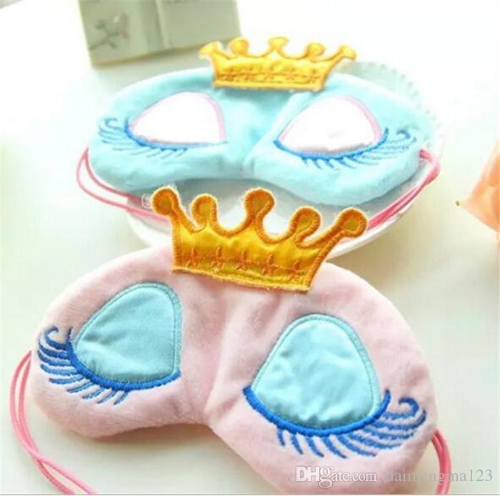 New Portable Lovely Cute Cotton Long Eyelashes Crown Style Eye Shade Sleeping Eye Mask A070