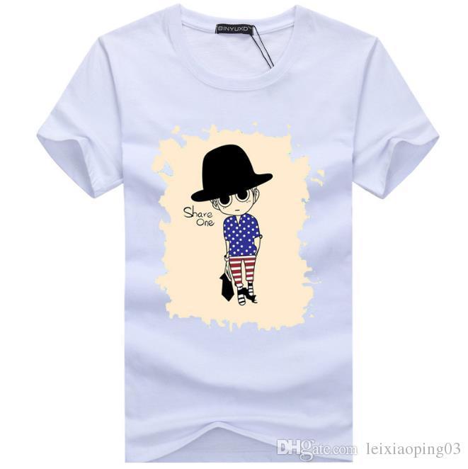 2017 Vente en gros tee shirts hommes 3D peinture hip hop vêtements hommes chemises de marque plus taille noir blanc