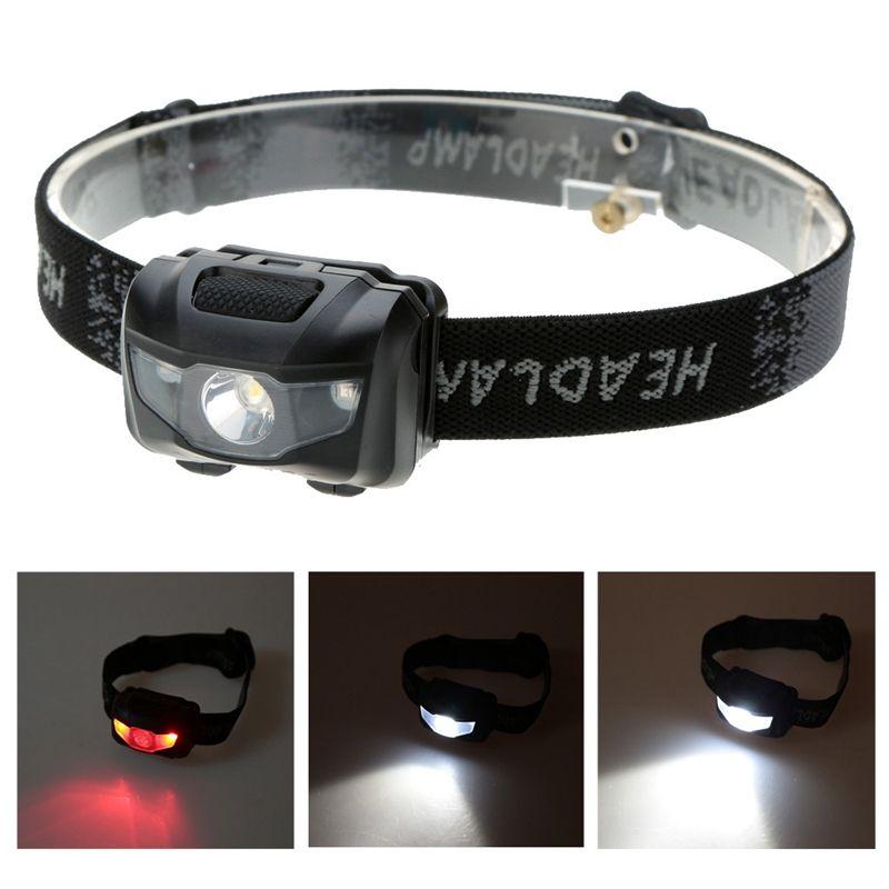 En plein air 3 W LED Lumière Phares Phare Pêche Camping Lumières Projecteur Résistant À L'eau Blanc avec Couleur Rouge Lumière