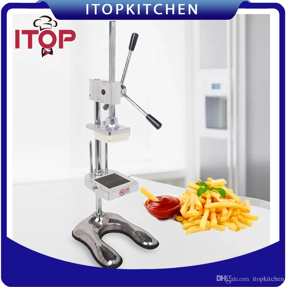 Manual Cutter French Fries Machine Potato Cutter Chips +3 Stainless Steel  Blades Fruit And Vegetable Making Machine French Fry Cutter Vegetable Cutter  ...