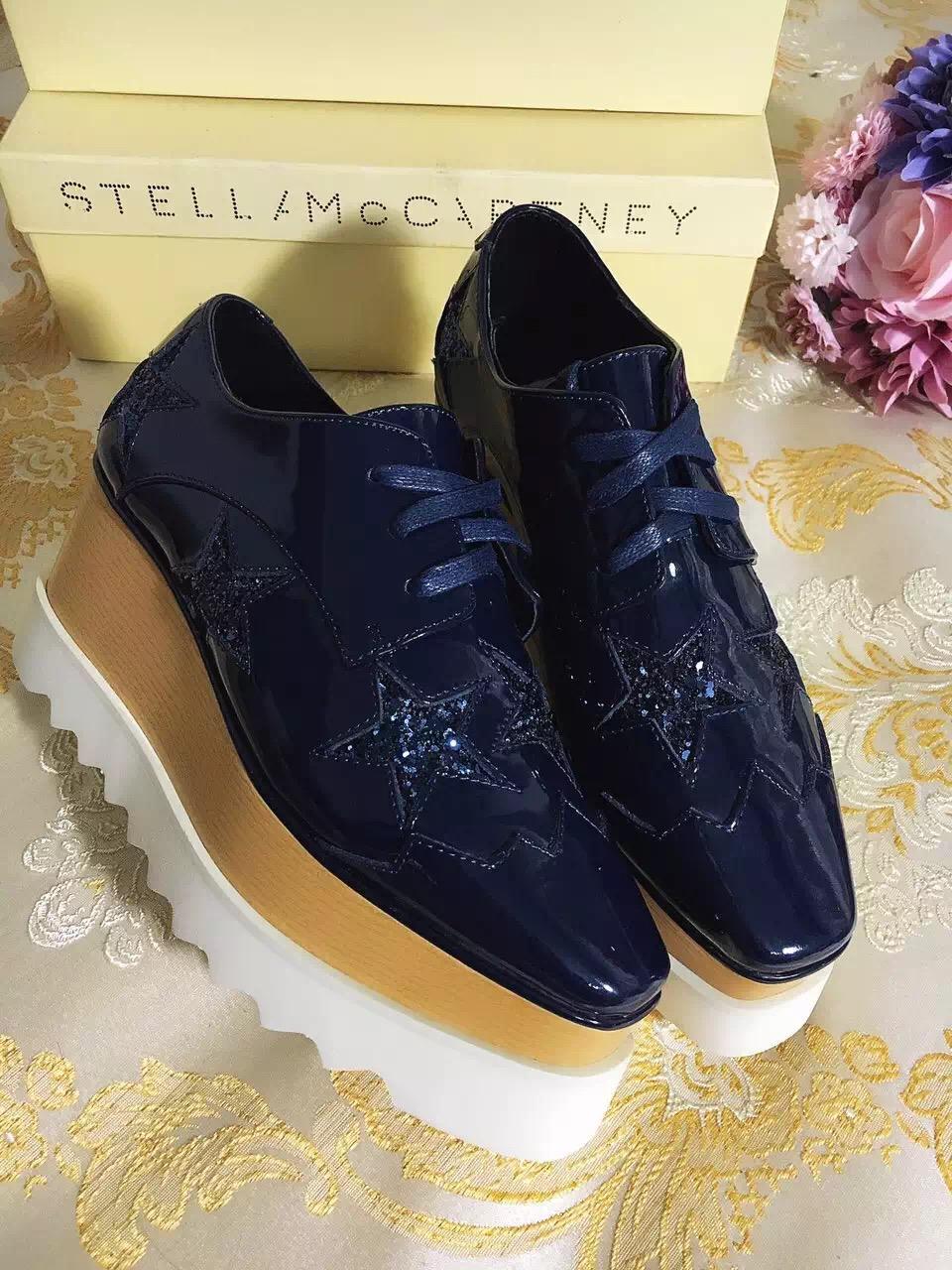 f097077f7b1 Compre Stella Mccartney Plataforma Primavera Sapatos De Couro Preto ...