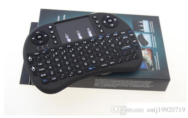 I8 2.4 GHz Air Mouse Teclado Touchpad Controle Remoto Para Android Box TV Jogo 3D Tablet Pc Mini backlight Teclado Sem Fio Rii