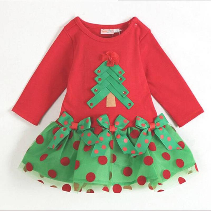 2018 Wholesale Baby Girl Dress Christening Gowns Cute Chrismas 1 ...