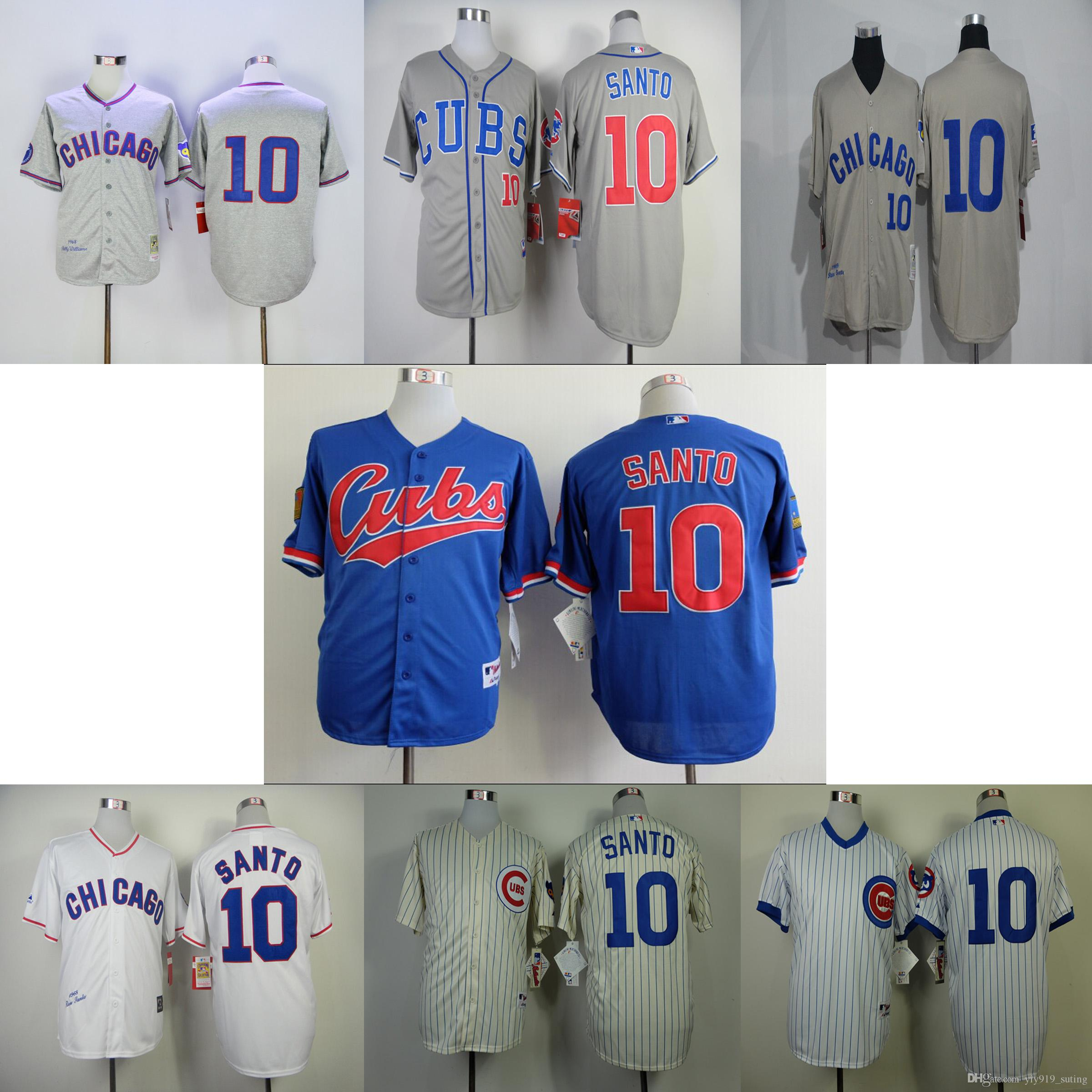 chicago cubs 10 ron santo authentic gray 2017 gold program flex base jersey see larger image