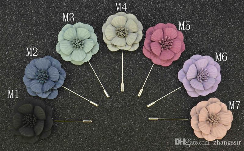Boyute 5 SZTUK 7 Kolory Symulacja Kwiaty Moda Sweter Duże Piny Broszka Kobiety Betautensili Akcesoria Boże Narodzenie prezent