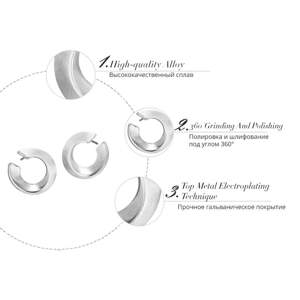 Viennois New Argent / Or Couleur Boucles d'oreilles rondes pour femme Petites boucles d'oreilles cercle métallique Bijoux fantaisie
