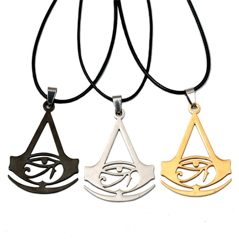 Wholesale Assassins Creed Symbol Stainless Steel Necklaces