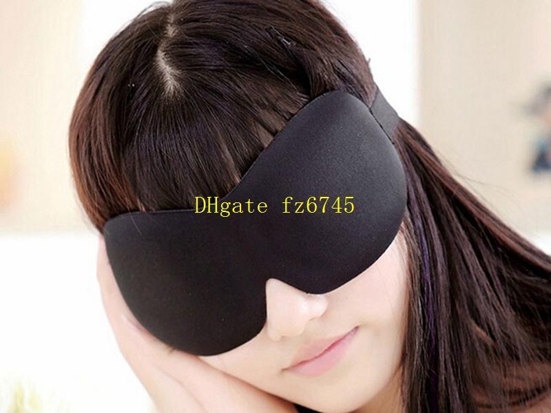 محمول 3D النوم العين قناع الظل الغمامة لينة العين قيلولة غطاء النوم الغمامة السفر العناية رؤية اللون الأسود مع سدادة الأذن حرة