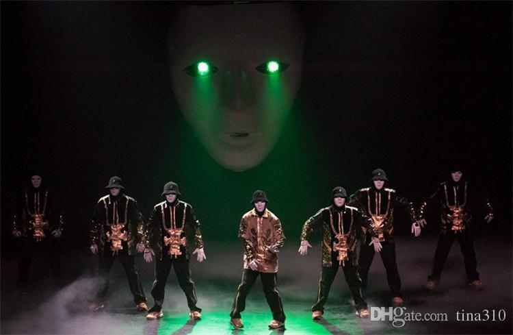 Caliente es Hip Hop Street Dance máscara del partido de la cara llena de hombres adultos máscara del traje de mascarada de la bola de plástico normal grueso Máscaras IB379