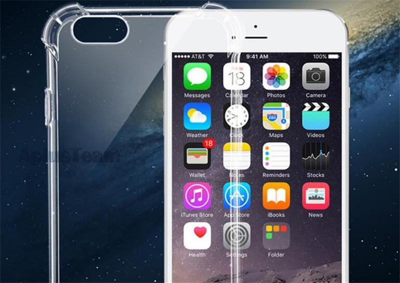 ShockProof Kristall Gel Gasbag High Clear Fall für Samsung S8 S8 plus Hinweis 5 Ultra-Thin Transparent Soft TPU zurück Fall Deckung für iPhone 6s