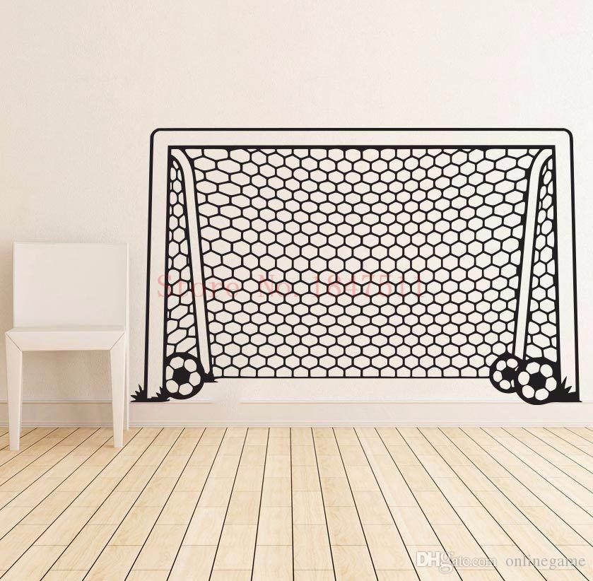 Football Goal Net Wall Stickers for kids room decoration DIY vinyl wall sticker 55*95 cm