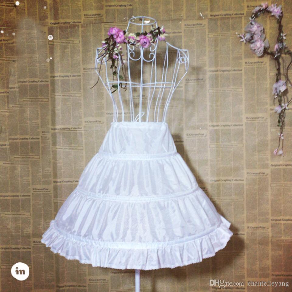3c99f136948c Acquista Bianco 3 Hoop Sottoveste Da Bambina Enorme Velluto A Campana  Petticoat Bambini Kid Flower Girl Gonna In Pizzo Petticoat 2017 A  13.07  Dal ...