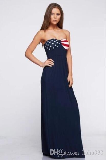 American Flag Patriotic American Flag Maxi Dress Beach Summer 4th Of July Women Summer Boho Beach Dress