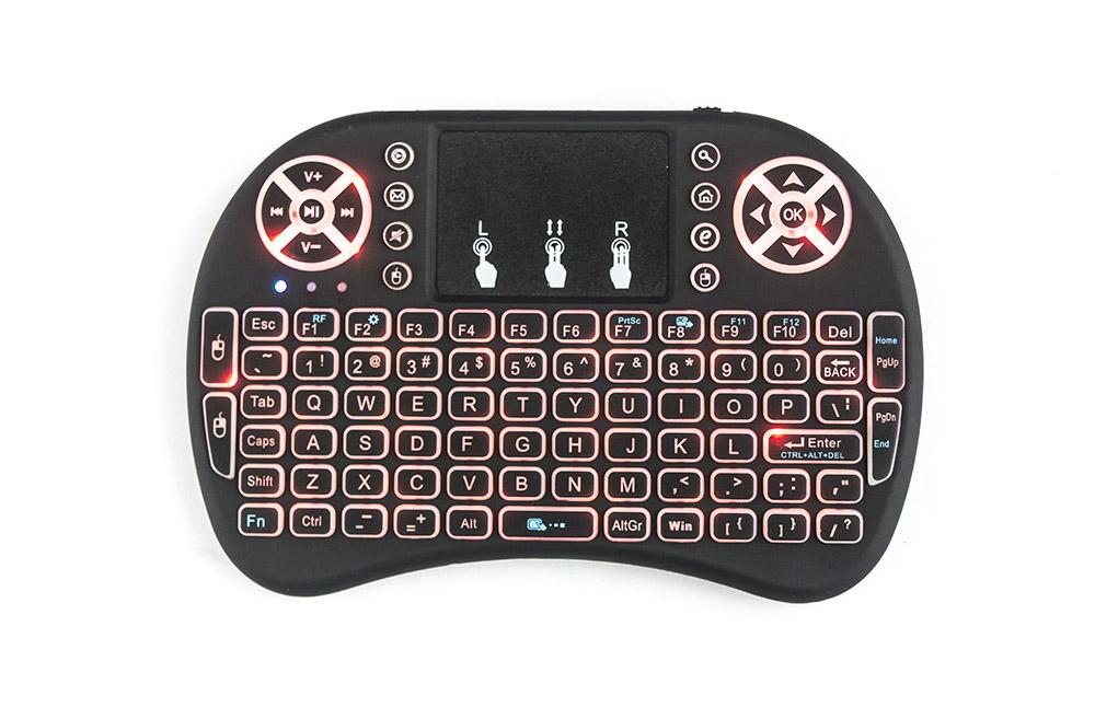 Rii i8 Wireless Keyboard Backlight Air Mouse Remoto Com Touchpad portátil para TV BOX X96 mini-TX3