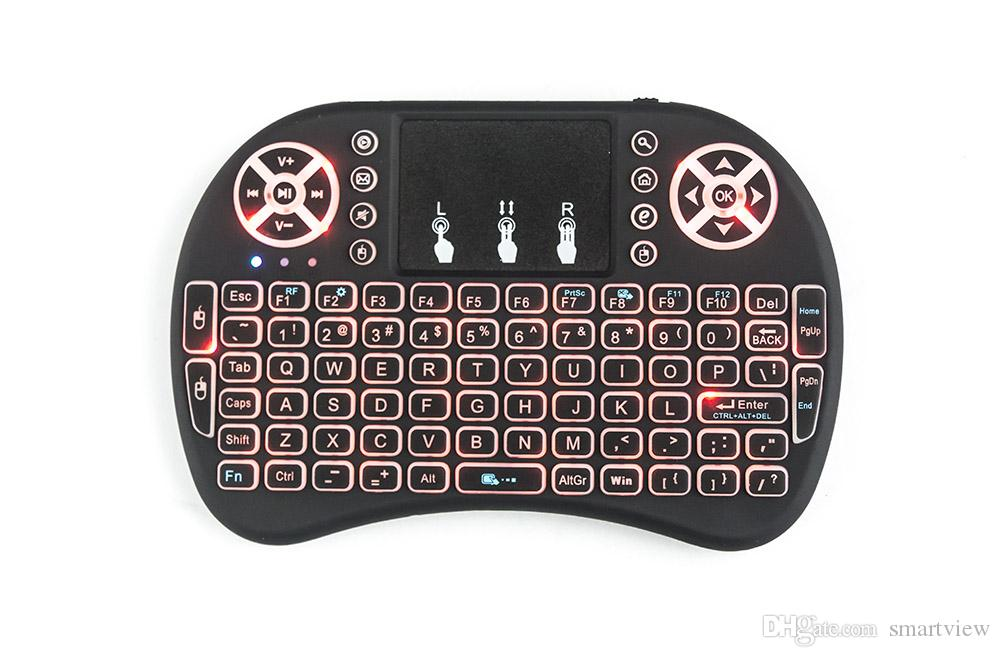 TV 박스 X96 TX3 미니를 들어 터치 패드 핸드 헬드 RII의 I8 키보드 무선 백라이트 공기 마우스 원격