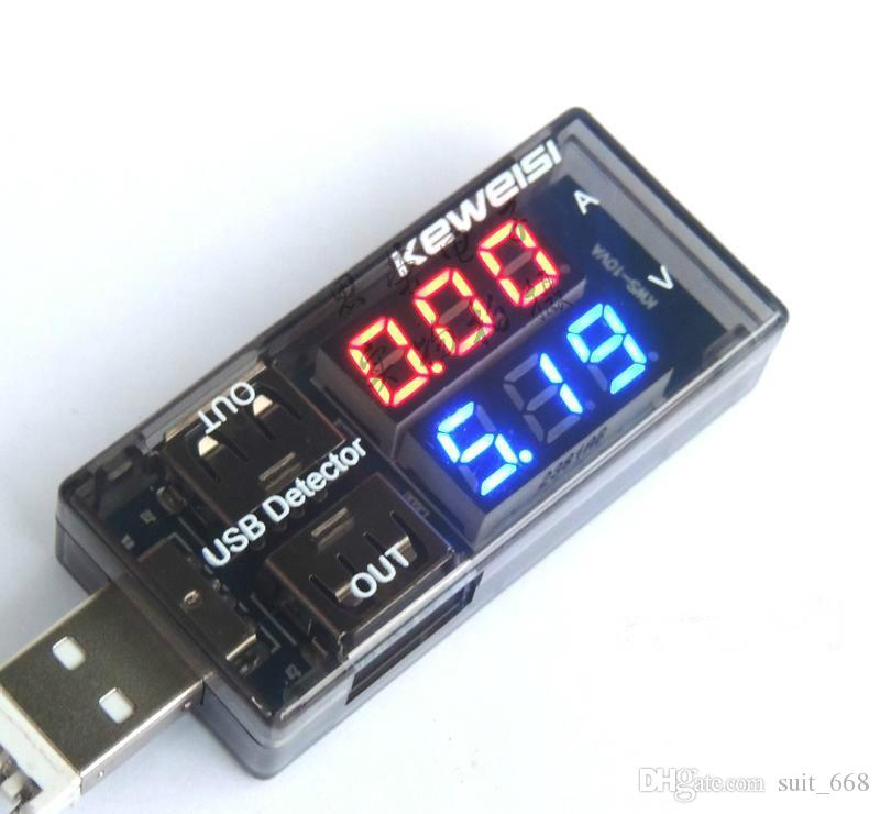 Current and voltage tester USB USB USB current voltage meter voltage tester dual display table