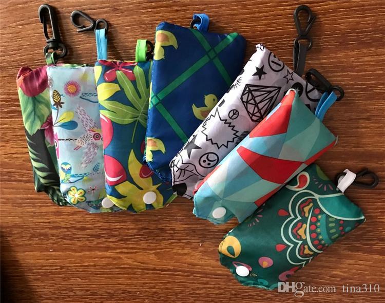 New Falttasche faltbare Nyloneinkaufstasche Wiederverwendbare Umweltfreundlich Falttasche Einkaufstasche neue Damen-Speicher-Beutel IB002