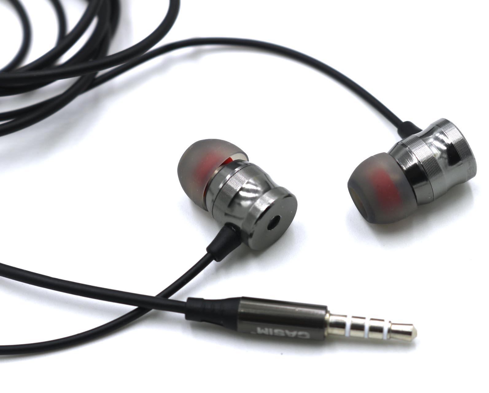 Yeni Casim R5 In-kulak Kulaklık Kulaklık Metal Evrensel Kulaklık 1.2M 3.5MM Metal Kulaklık Ağır Bas Gürültü Yüksek çözünürlüklü kulaklıklar