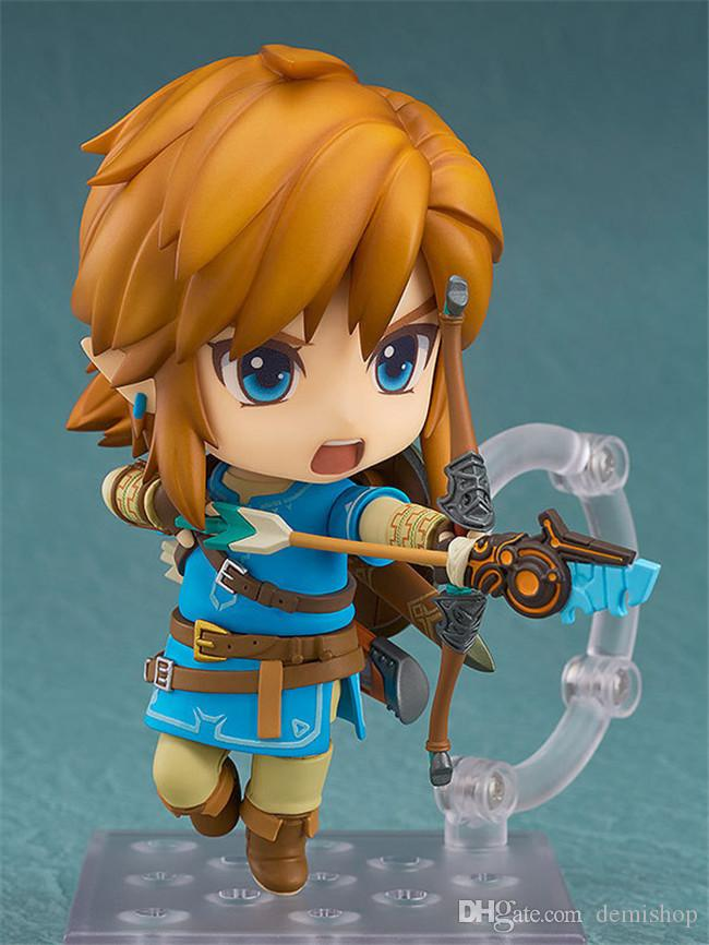 Demishop Nendoroid Series #733 The Legend of Zelda Breath of the Wild Link PVC Action Figure Collectible Model Toy