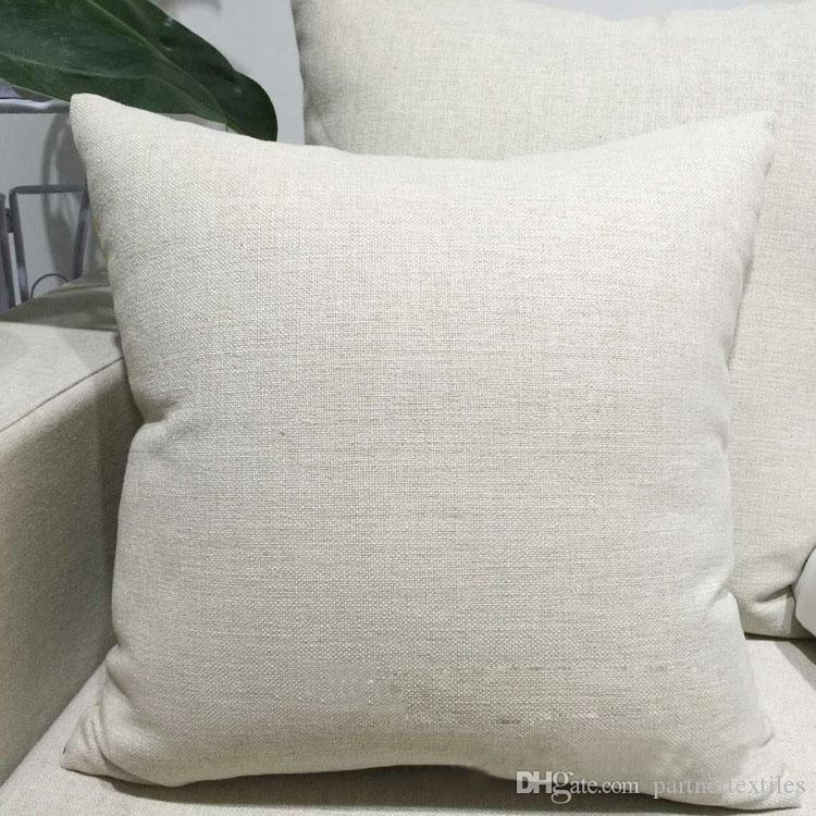 Throw Pillow Blanks : Sublimation Pillow Case Blanks Polyester Home Decorative Linen Throw Pillow Cover Embroidery ...