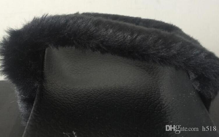 Pantofole Rihanna Fur Leadcat Fenty Slides Donna Uomo Casa Pantofole invernali Scarpe da casa Donna Pantofole calde sandali donna pantoufle