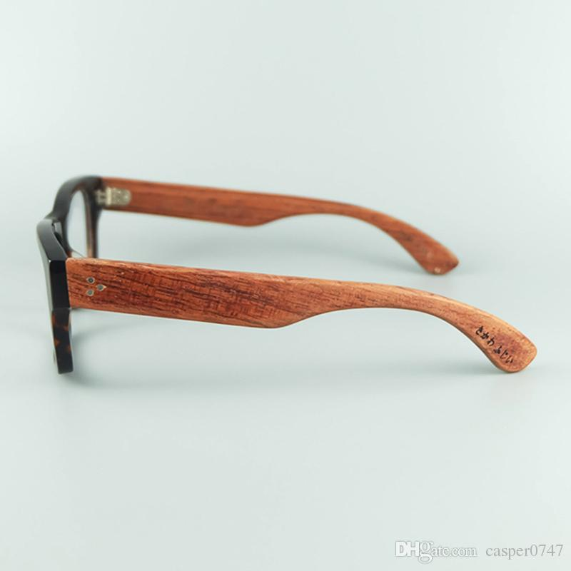 21eec285a246 Hand Made Wood Glasses Frame High Quality Acetate Frame With Wood Grain  Natural Rosewood Legs Clear Lens High Quality Glasses Frame Optical Eyeglass  Frames ...