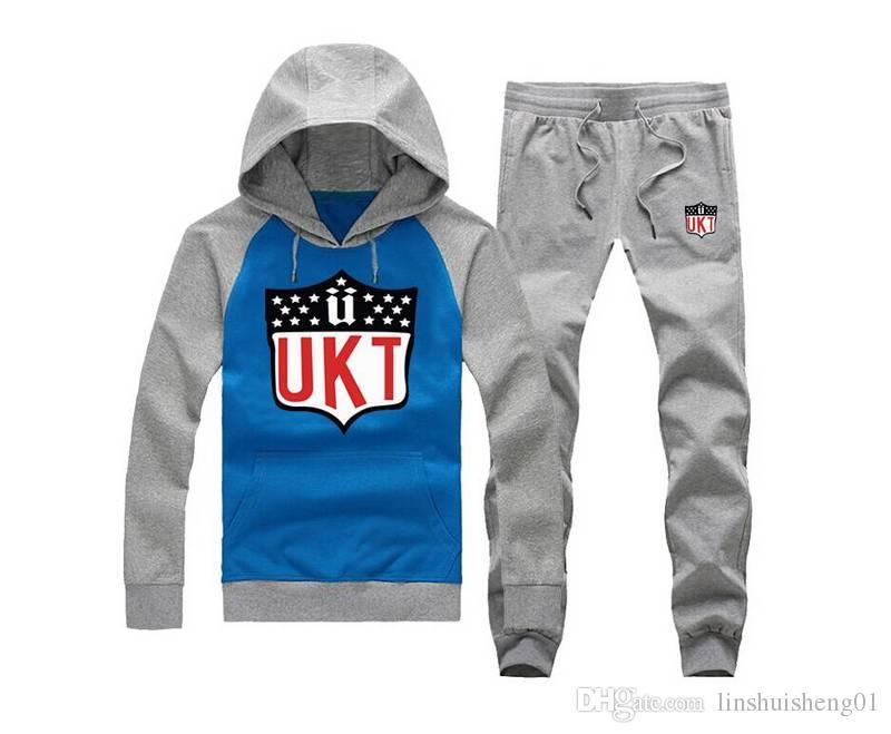 2017 New Fashion Mens Sportswear Casual crooks Sweatshirt Unkut sweat suit Sports Suit, Men Leisure Outdoor Hoodie Tracksuit