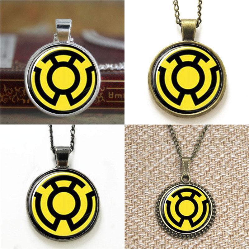 Wholesale Sinestro Lantern Corps Logo Pendant Necklace Keyring