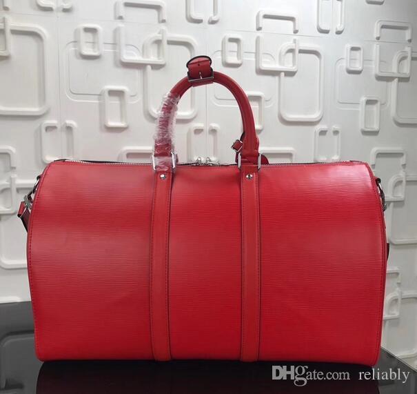 6fce2211b Top Genuine Leather New Fashion Men Women Travel Bag Duffle Bag Brand Designer  Luggage Handbags Large Capacity Sport Bag 45CM Messenger Bags Laptop Bags  ...