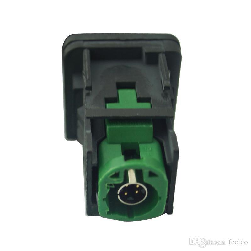 FEELDO OEM OEM RCD510 RNS315 Cable USB con interruptor para VW Golf MK5 MK6 VI 5 6 Jetta CC Tiguan Passat B6 Posición del reposabrazos # 1698