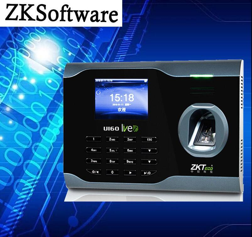 Wholesale- ZKsoftware U160 Fingerprint Attendance Time Clock With WiFi  Function +TCP/IP+USB ( Free SDK)