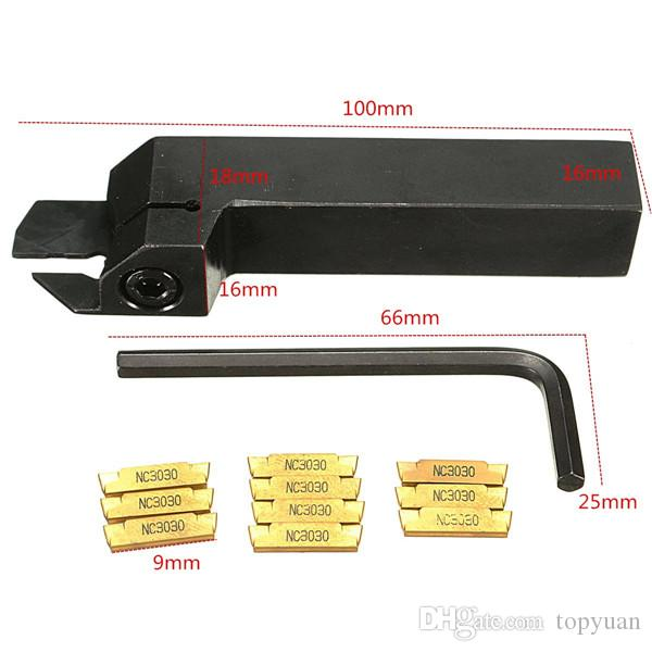 MGEHR 1616-2 16*16*100mm External Grooving Lathe Tool Holder With MGMN200 Insert