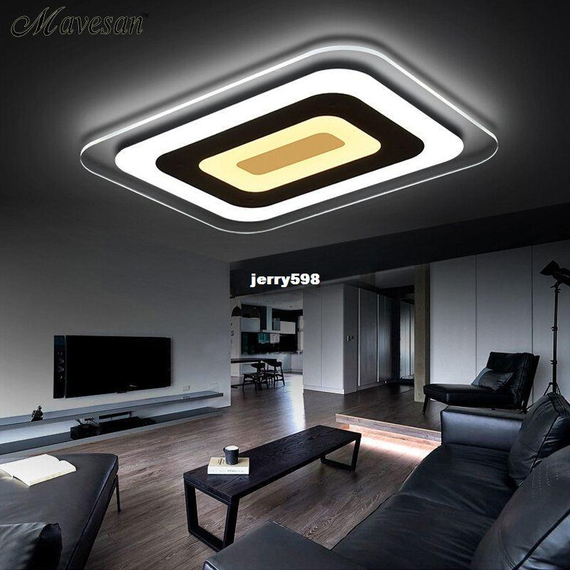 Best quality modern led ceiling lights for indoor lighting plafon led square ceiling lamp fixture for living room bedroom lamparas de techo at cheap price