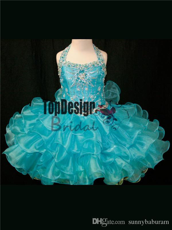 2017 WHOLESALE TWO TONE LACE UP BACK BABY GIRLS PAGEANT DRESS CUPCAKE DRESSES INFANT TODDLER BIRTHDAY BALL GOWN SR242