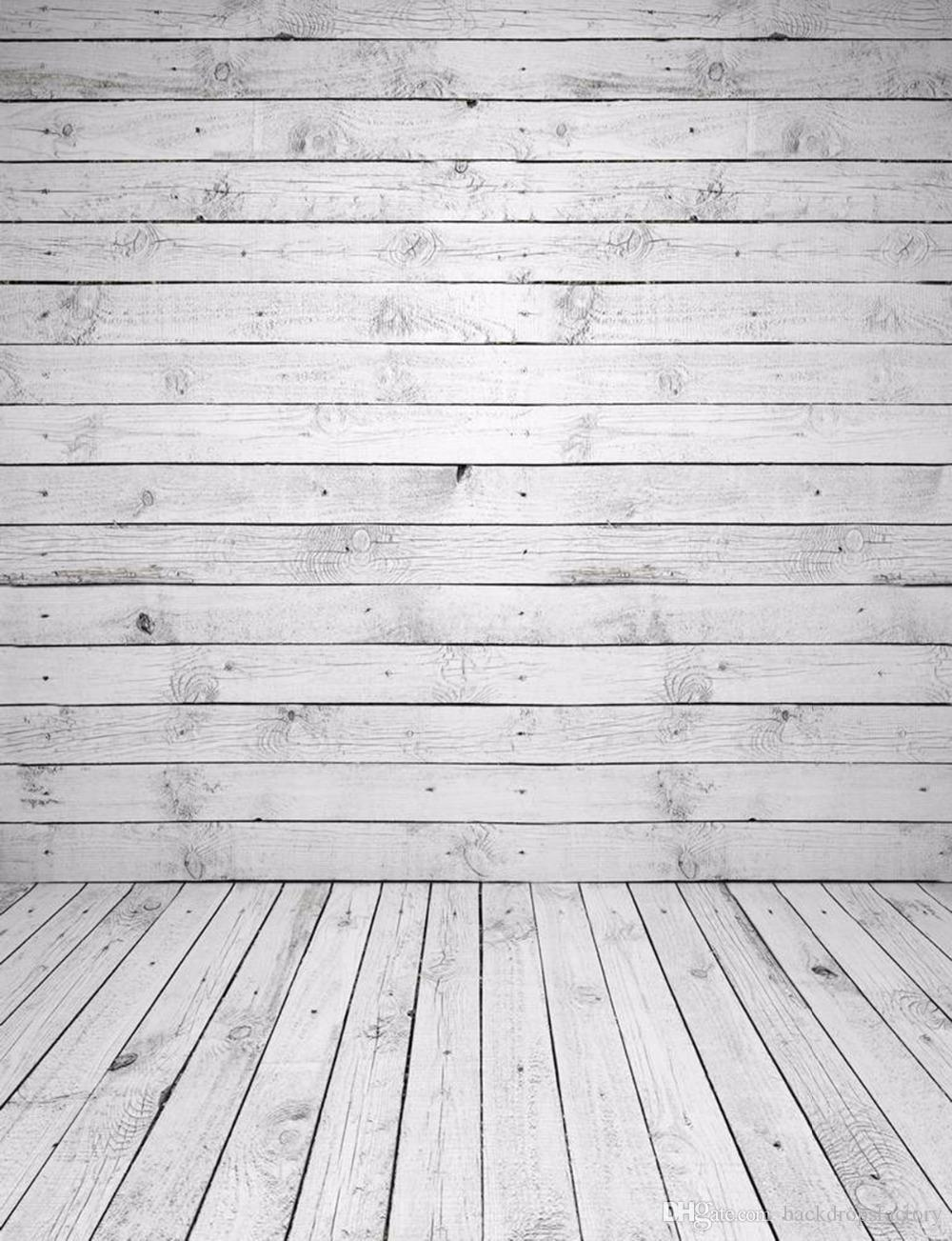 2018 Vinyl Photography Backdrop Wood Wall Floor Vintage White Wooden Planks  Kids Children Newborn Baby Photo Props Studio Booth Backgrounds From ...
