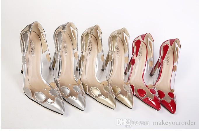 hot seller color match pointed toe women slim high heel sexy nice lady party dress shoe 306