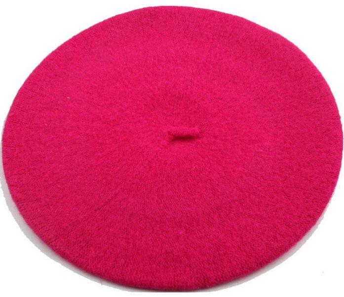 Hot Sell 2017Autumn E Inverno Beret Mulheres Red England Pintor Chapéu Bud Pure Wool Chapéus Mulher Inverno Boina Menina Francês Artista Beanie chapéu