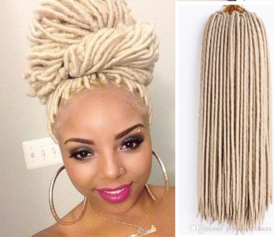 Jumbo Braids Women Heat Resistant Fiber Ombre Jambo Braids Girl Hair Extension African 24inch Synthetic Braiding Hair Lady Gradient Dreadlock Hair Extensions & Wigs