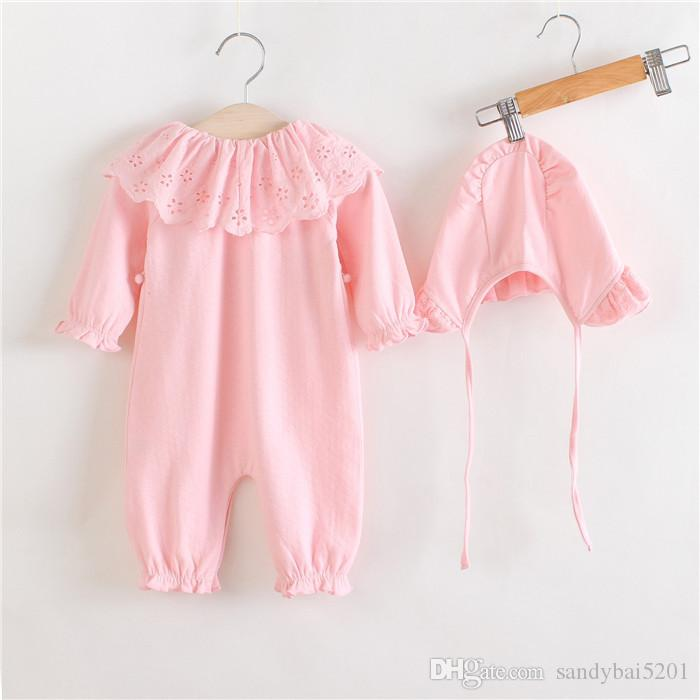 Baby Girls Tassel Romper Kids Girl Floral Embroidery Jumpsuit Newborn One-piece Infant Birthday Gift Outfits 2017 Children Clothes B641