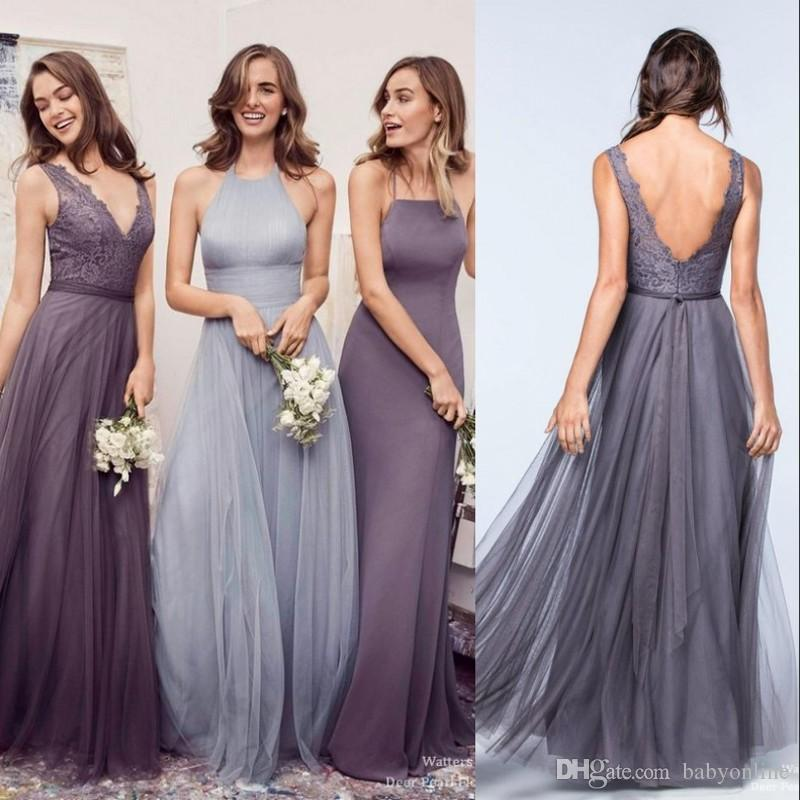 Boho bridesmaid dresses purple images for Bridesmaid dresses for a garden wedding