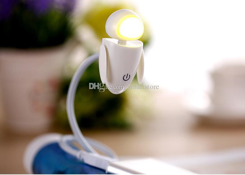 40 stücke Flexible Helle LED USB Mini Roboter Licht Lampe Für Laptop PC Schreibtisch Lesen Gelb Weiß 0001