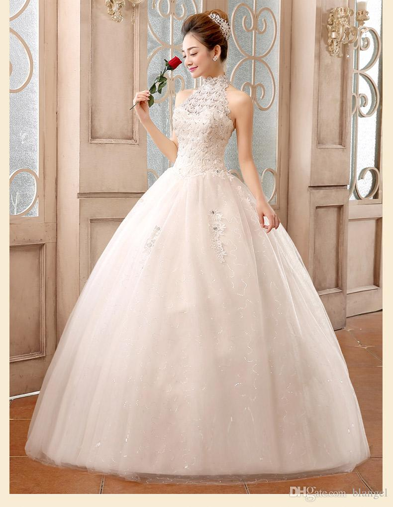 Exquisite White Wedding Dress Hand Sewing Lace Crystal Handmade ...