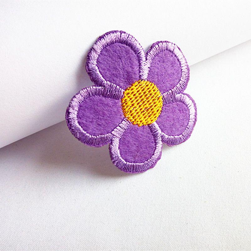 Nakış yama Ayçiçeği şekli Demir yama bez Geri sakız aplikler etek kot ceket sırt çantası dikiş dekoratif aksesuarları DL_CPIF007