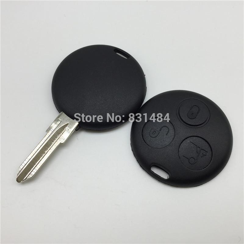 3 Buttons Replacement Uncut Blank Blade Car Key Case Shell Fit For Mercedes  Benz Smart Fortwo No Chip