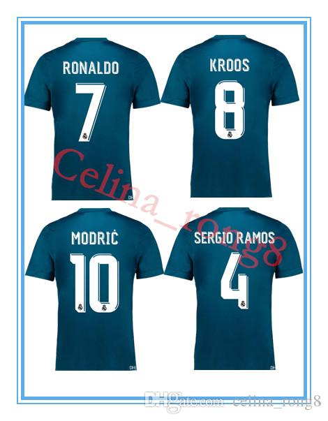 2019 Real Madrid Third Soccer Jersey 17 18 Real Madrid 3rd Soccer Shirt  2018 Ronaldo Bale Football Uniforms Asensio Isco Kroos MARCELO From  Celina rong8 c95629ff2