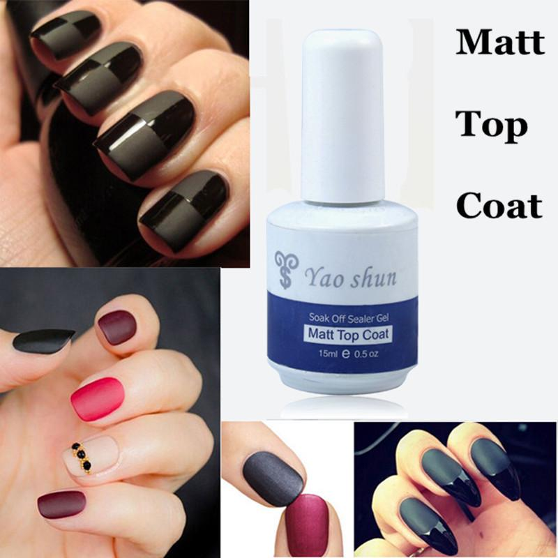 Wholesale Yaoshun 15ml Matt Matte Top Coat Varnish Soak Off Led/Uv ...