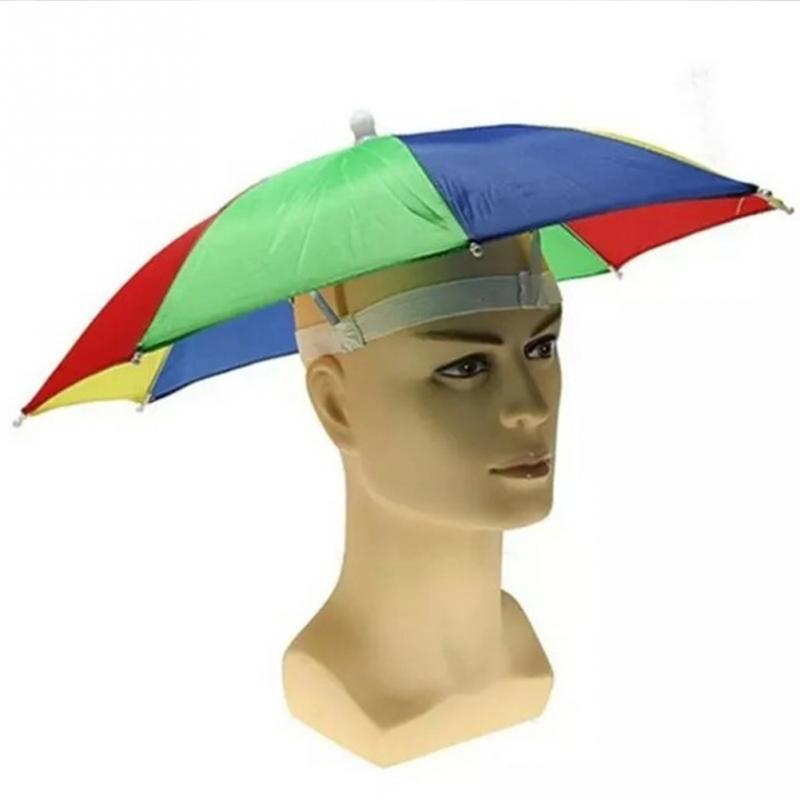 2019 Umbrella Hat Sun Shade Camping Fishing Hiking Festivals Outdoor  HandsFree Parasol Umbrella Hat Cap From Outwood 8069a8170b9