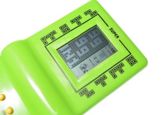 Neue Retro-Klassiker Kindheit Tetris Handheld Game-Spieler LCD elektronische Spiele Spielzeug Spielkonsole Riddle Lernspielzeug